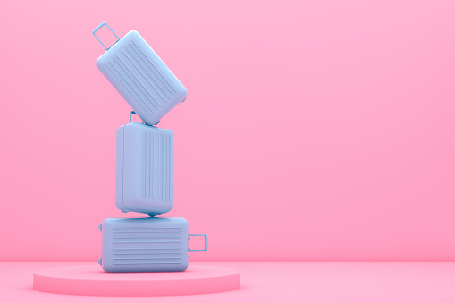 Suitcase, Minimal Travel Concept