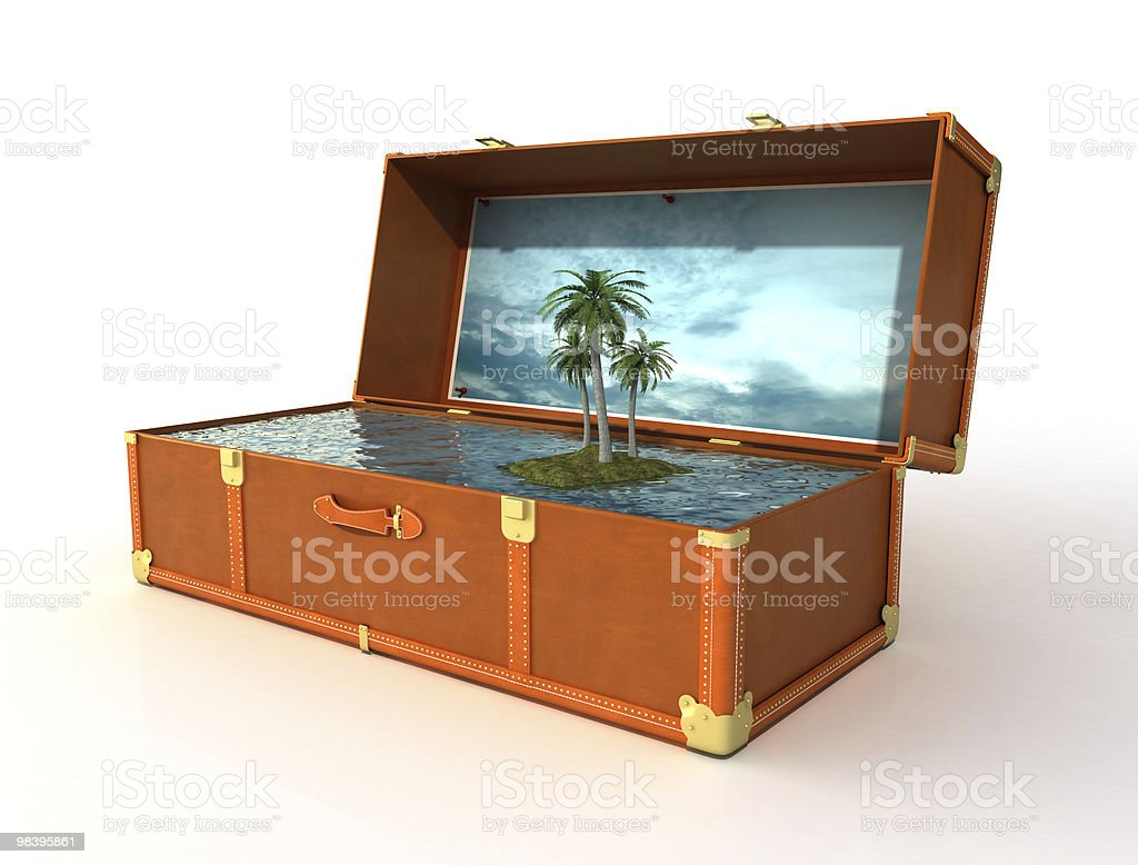 suitcase of a dream holiday royalty-free stock photo