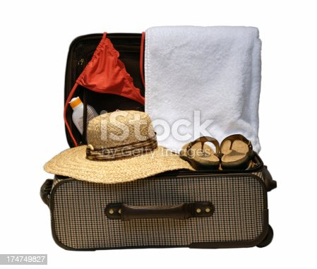 istock Suitcase ready for vacation or travel 174749827