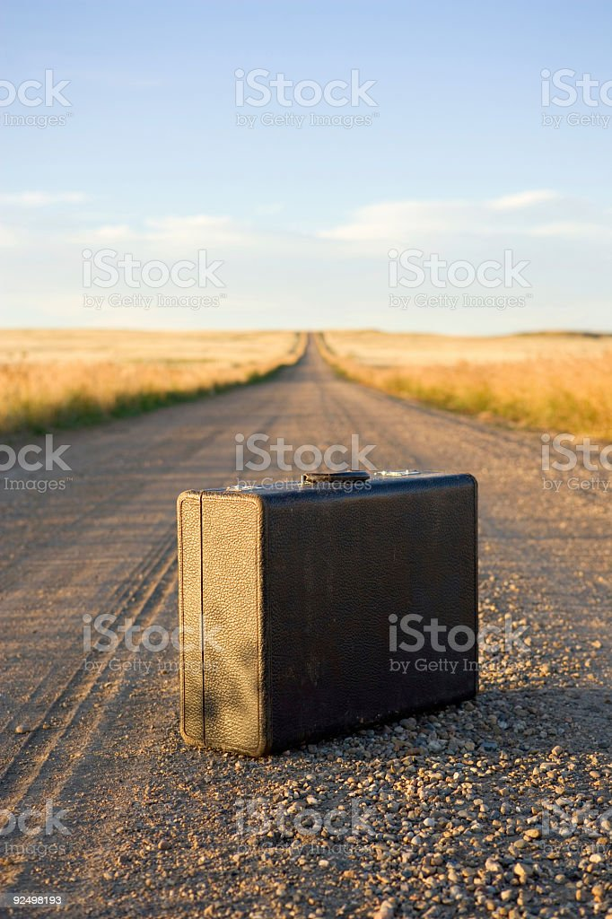 Suitcase / Vertical royalty-free stock photo
