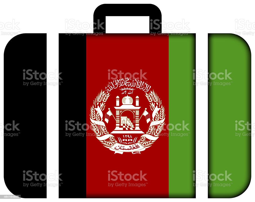Suitcase with Afghanistan Flag stock photo
