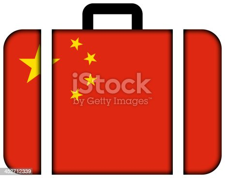 istock Suitcase with China Flag 452712339