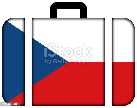 istock Suitcase with Czech Republic Flag 452686181