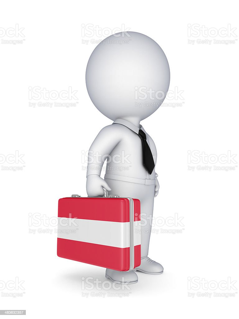 Suitcase with flag of Austria. stock photo