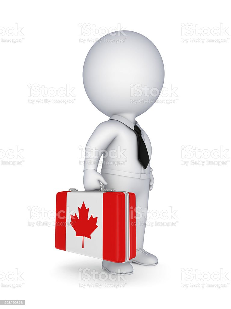 Suitcase with flag of Canada. royalty-free stock photo