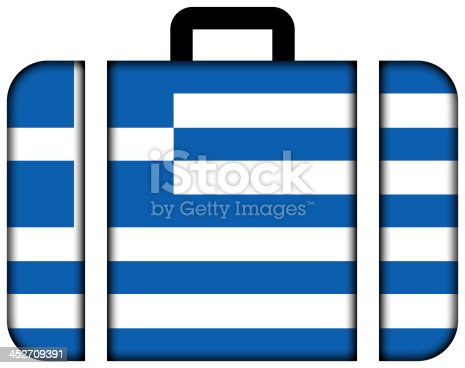 istock Suitcase with Greece Flag 452709391