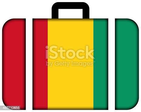 istock Suitcase with Guinea Flag 452710655