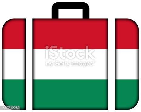 istock Suitcase with Hungary Flag 452712269