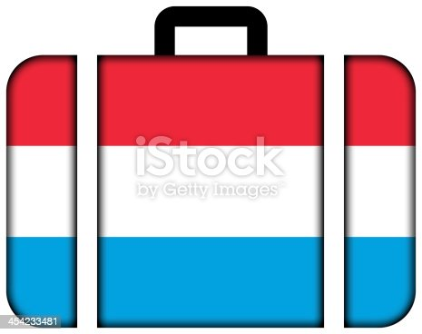 istock Suitcase with Luxembourg Flag 454233481