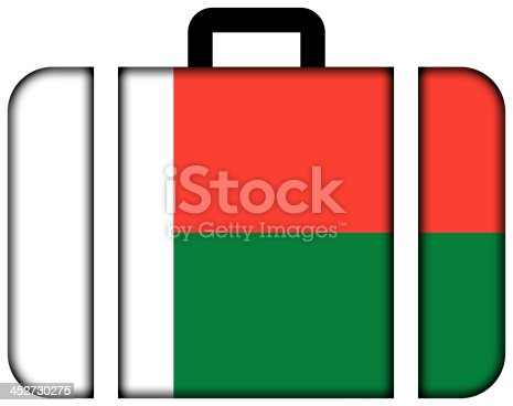 istock Suitcase with Madagascar Flag 452730275