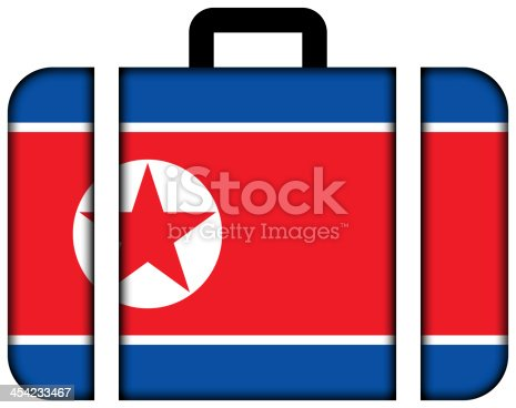 istock Suitcase with North Korea Flag 454233467