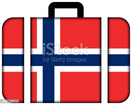 istock Suitcase with Norway Flag 452709415
