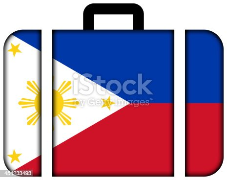 istock Suitcase with Philippines Flag 454233493