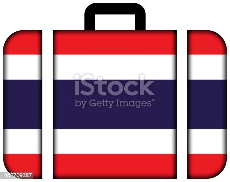 istock Suitcase with Thailand Flag 452709387