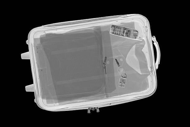 Suitcase X-Ray stock photo