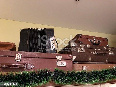 627291036 istock photo Suitcase,Old,Travel,Memories 1081361634