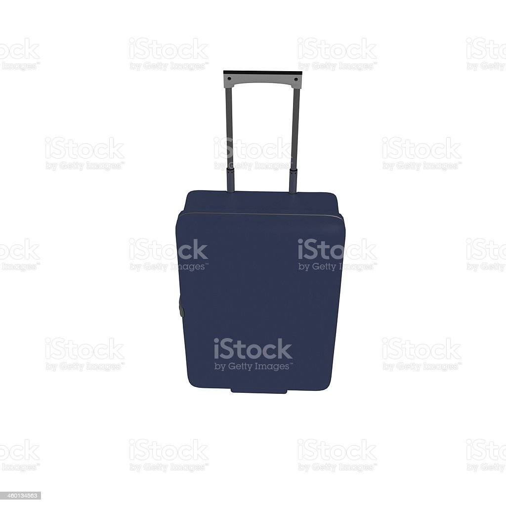Suitcases isolated on a white background. stock photo