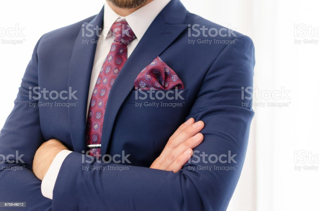 Suited businessman stock photo