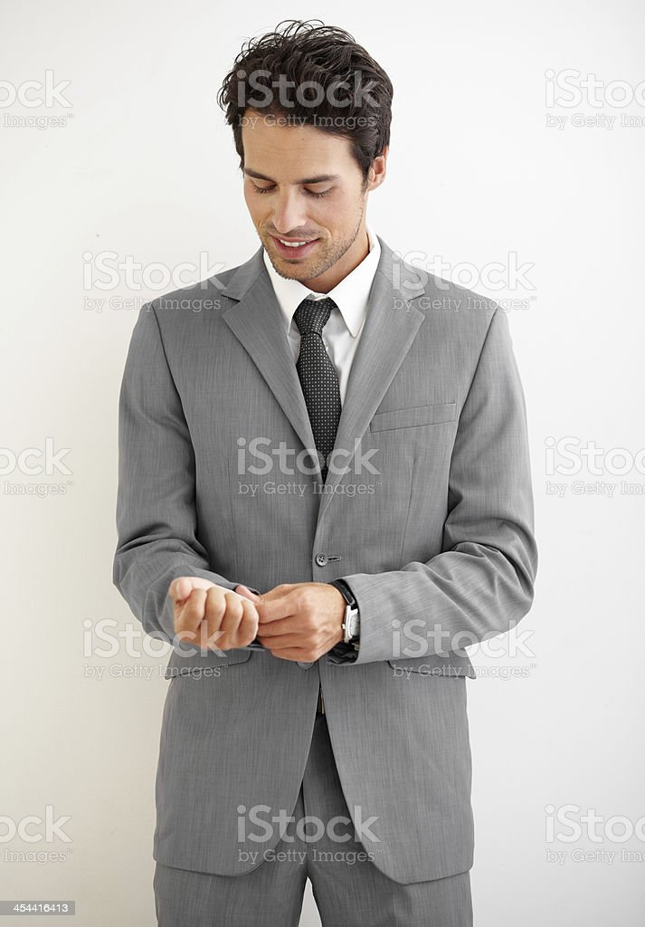 Suiting up royalty-free stock photo