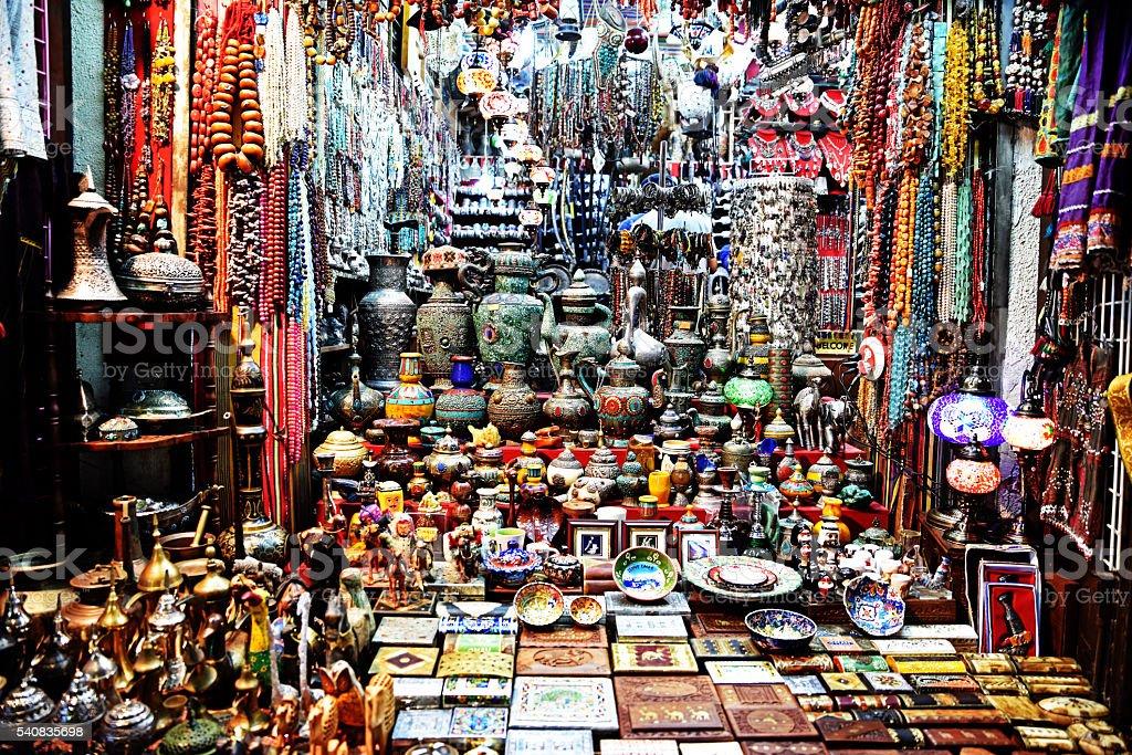 Suk in Muscat stock photo