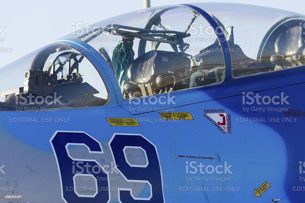 Sukhoi Su-27 fighter jet royalty-free stock photo