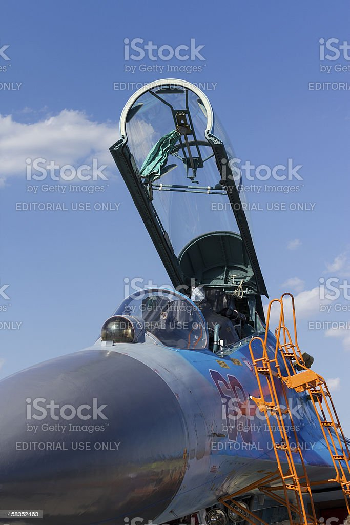 Sukhoi Su-27 fighter jet royalty-free stock photo