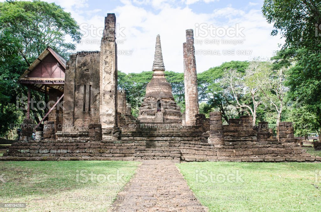 Sukhothai Historical Park covers an area of ancient city of Sukhothai. stock photo