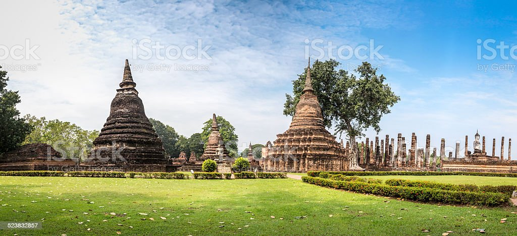 Sukhothai historical park, the old town of Thailand,Mahatat Temple stock photo
