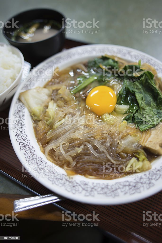 Sukiyaki of the Okinawa style (沖縄すきやき) royalty-free stock photo