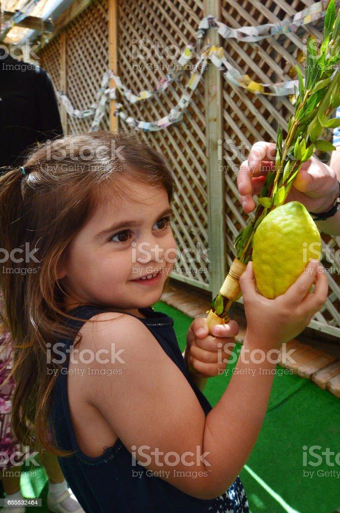 Sukkot Jewish Holiday stock photo