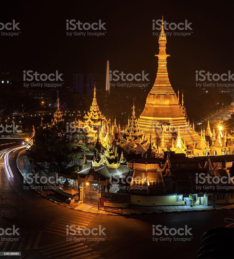Sule Pagoda stock photo