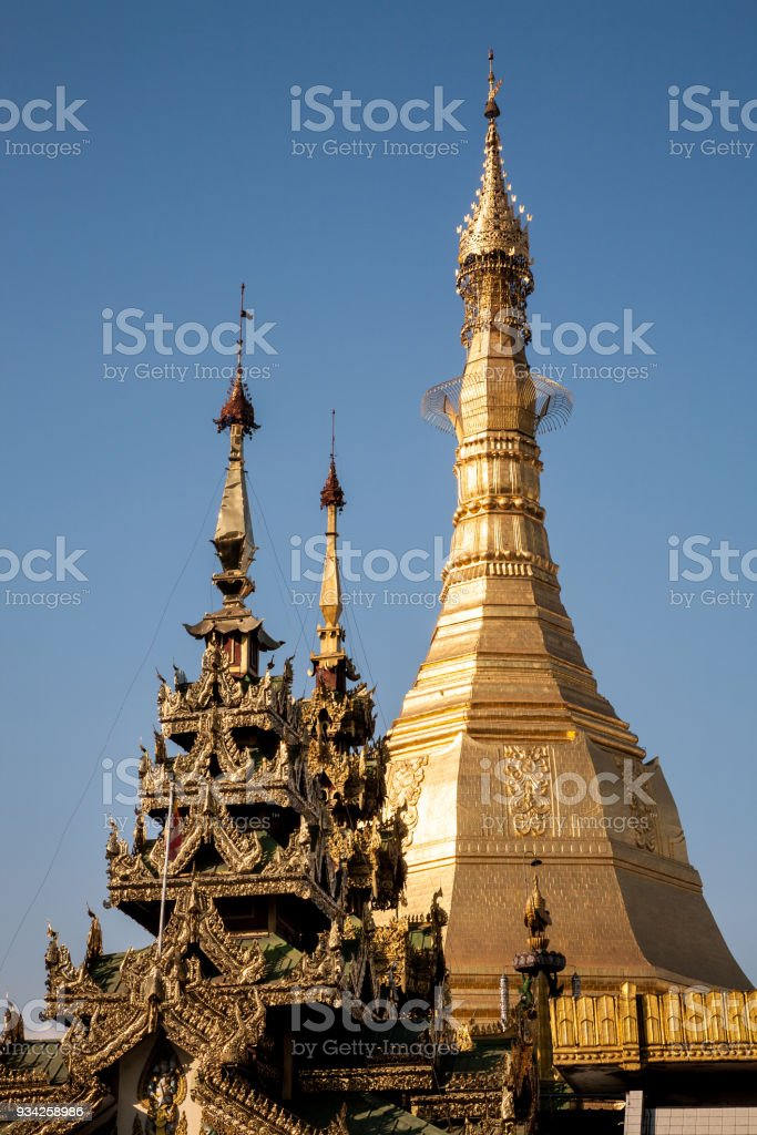 Sule Pagoda, Yangon, Burma stock photo