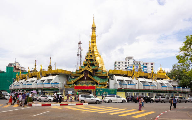 Sule Pagoda ,Yangon, Myanmar. stock photo