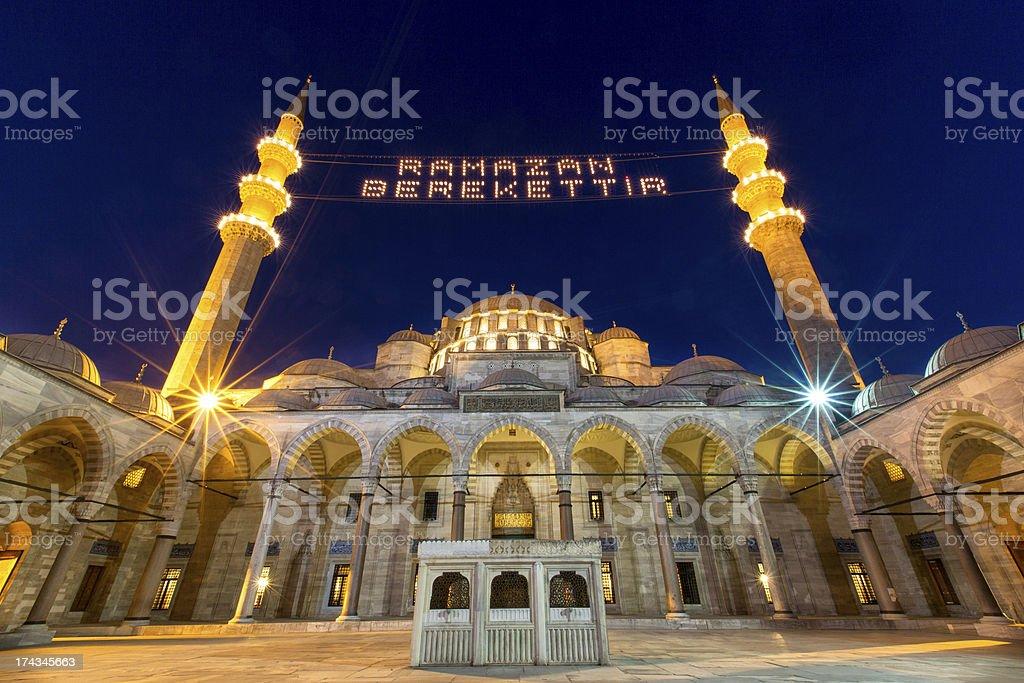 Suleymaniye Cami in Istanbul stock photo