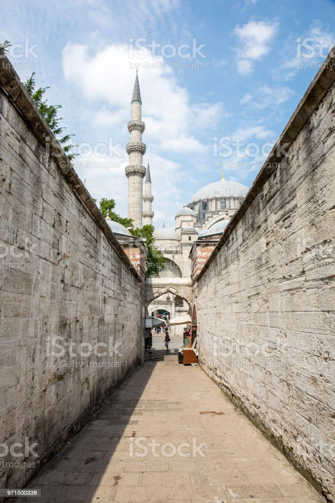 Suleymaniye Mosque in Fatih district of Istanbul, Turkey stock photo