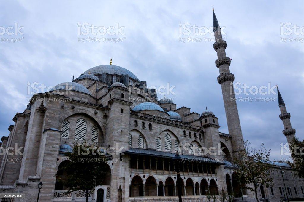 Suleymaniye mosque in Istanbul stock photo