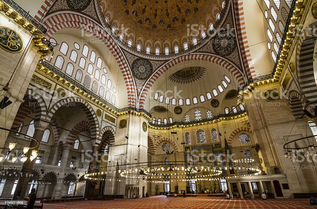Suleymaniye Mosque royalty-free stock photo