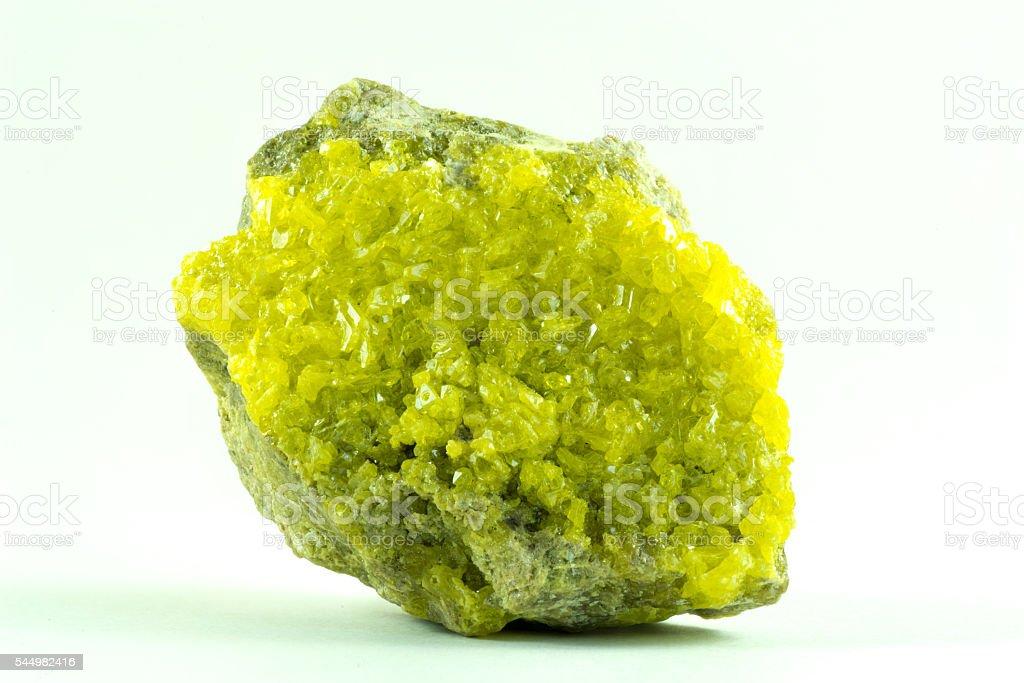 Sulfur Crystals stock photo