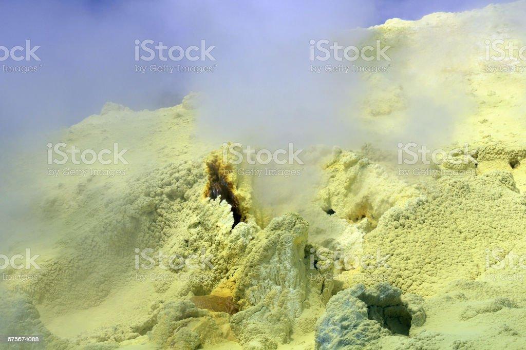Sulfur Fumarole White Island royalty-free stock photo