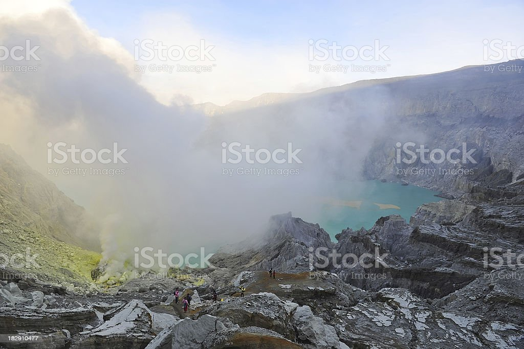 sulfur mining royalty-free stock photo