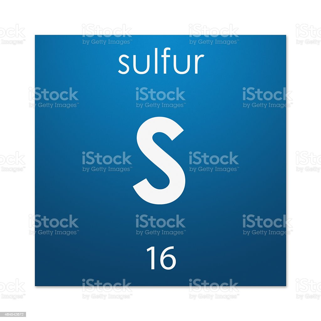 Sulfur (chemical element) stock photo