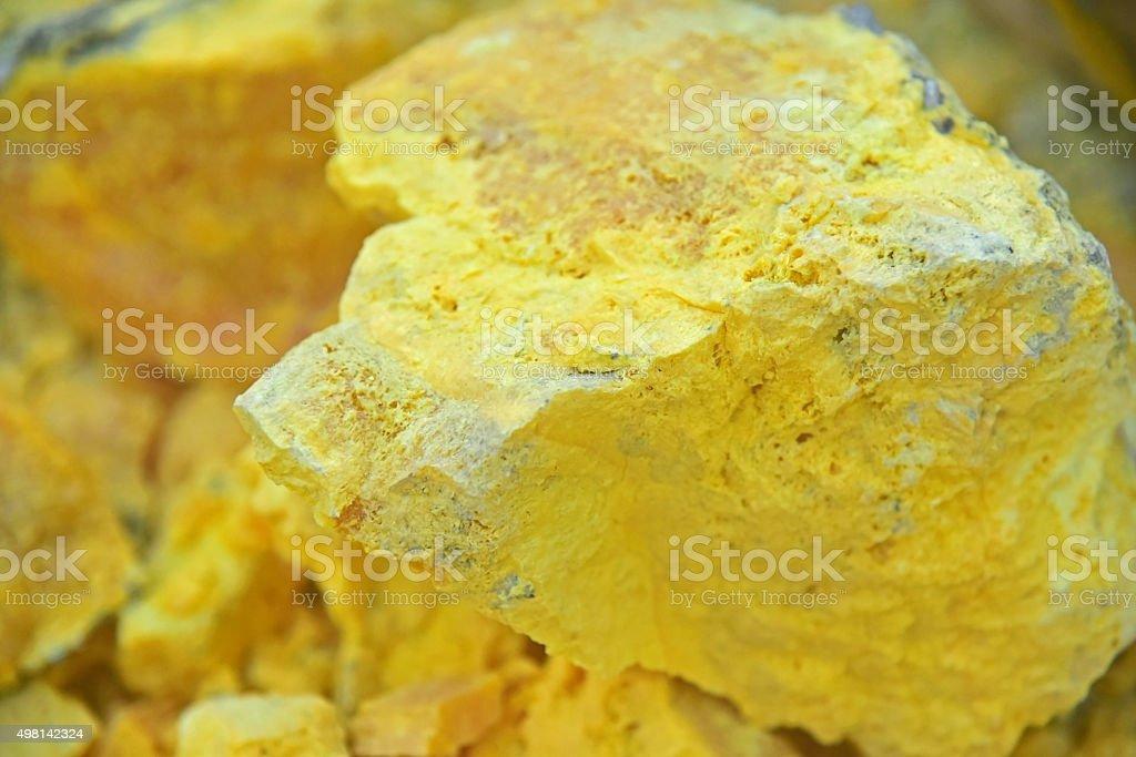 Sulfur stock photo