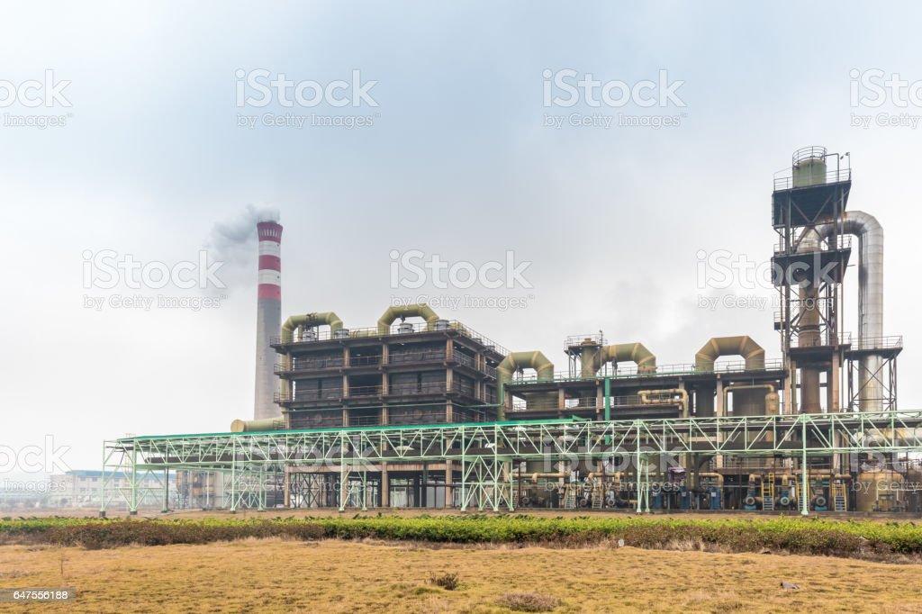 sulfuric acid plant stock photo