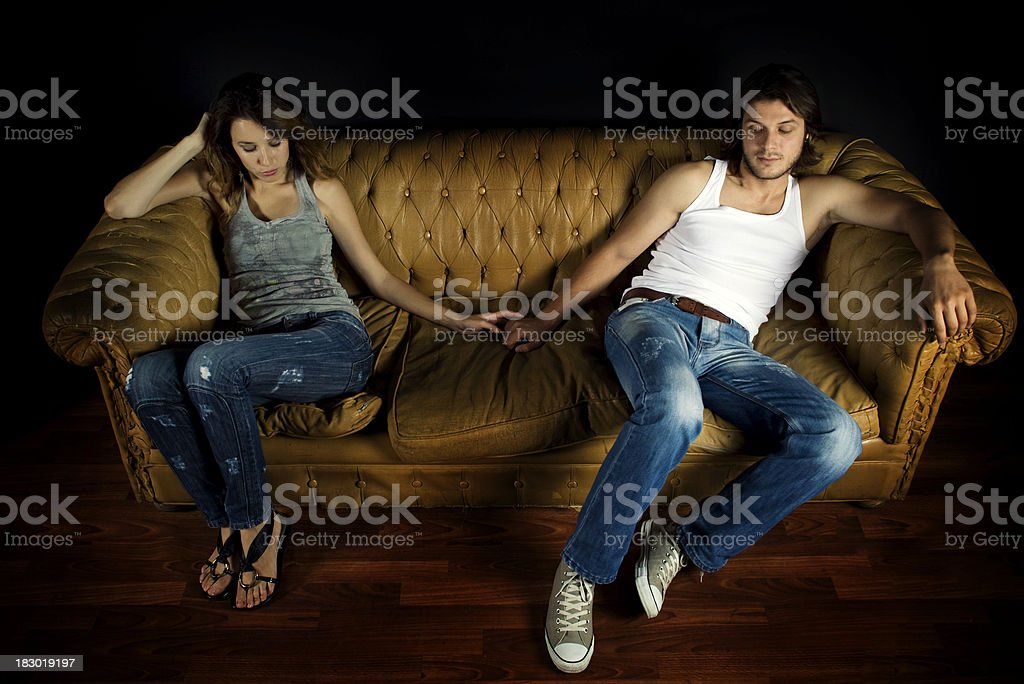 Sullen Couple royalty-free stock photo