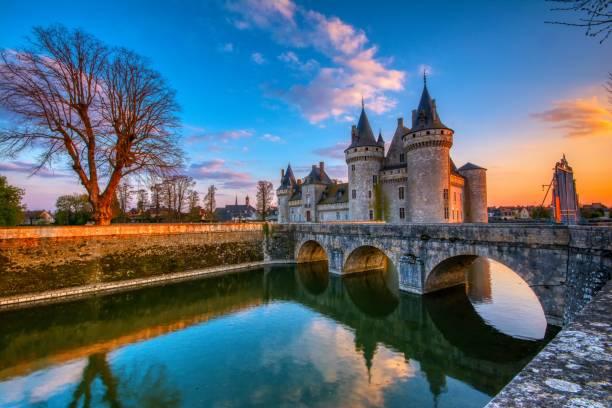 Sully Sur Loire, France. stock photo
