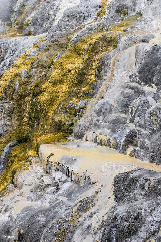 Sulphur geyser falls stock photo