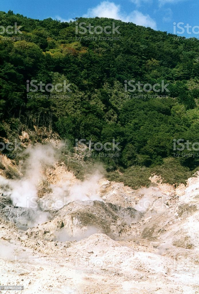 Sulphur springs, Saint Lucia WIndward Islands stock photo