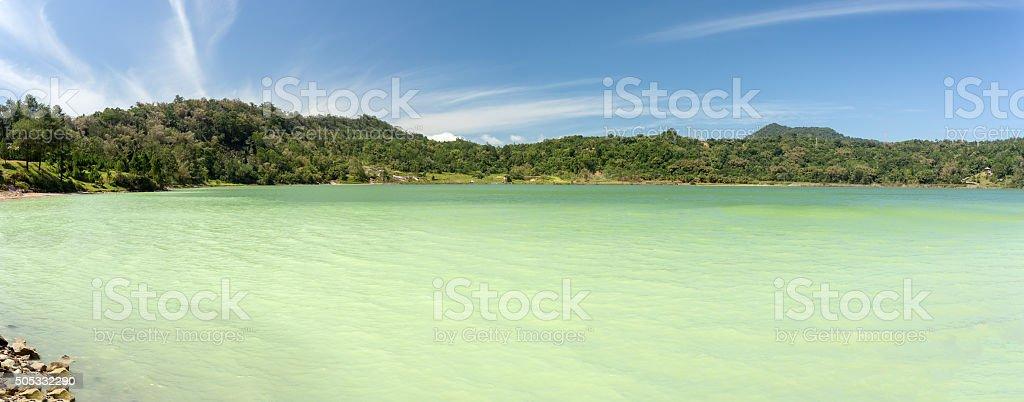 sulphurous lake - Danau Linow stock photo
