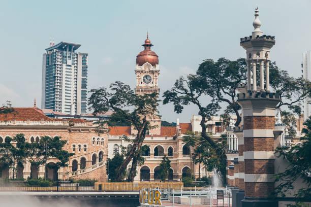 Sultan Abdul Samad Building in historical center of Kuala Lumpur stock photo