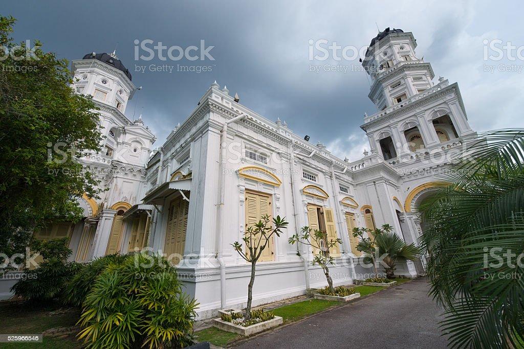 Sultan Abu Bakar mosque, Johor Bahru stock photo